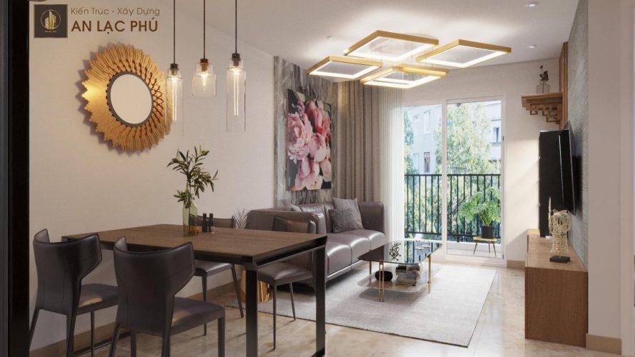Thiết kế – Thi công nội thất căn hộ Heaven CityView – 61m2 – 2PN