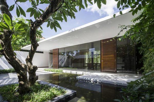 Nhà hộc kéo được bao phủ bởi 60% cây xanh và mặt nước ở Vũng Tàu